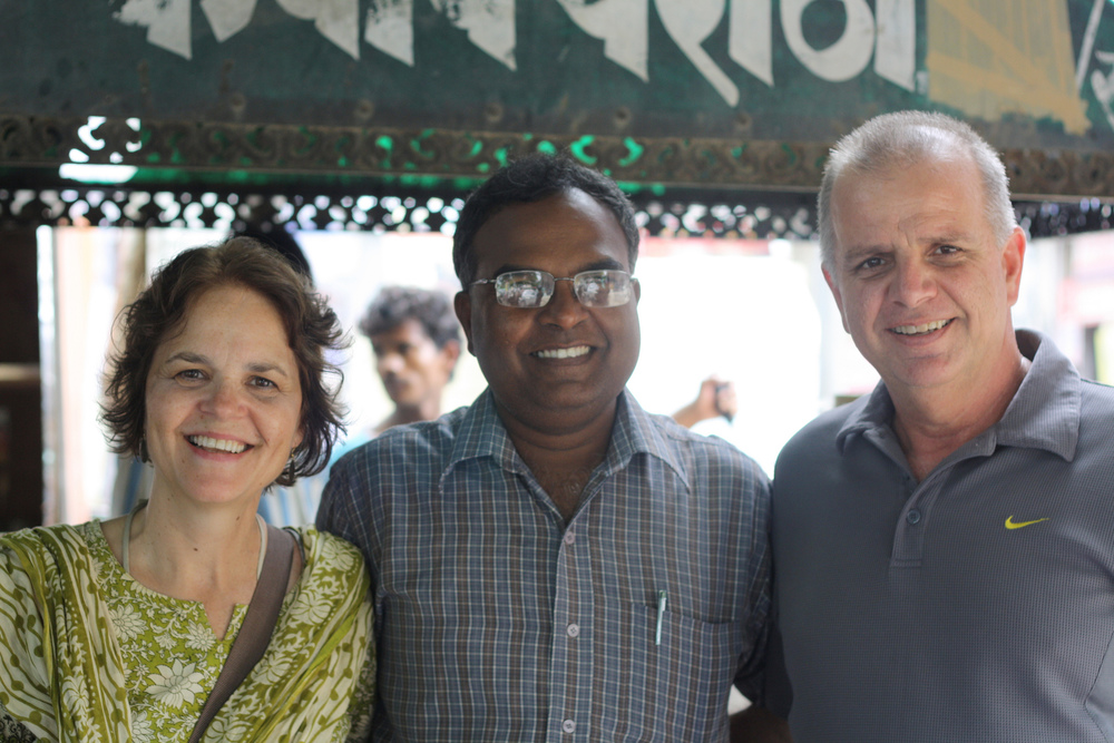 Scott and Rosemary alongside Indian friend and co-worker, 2011.
