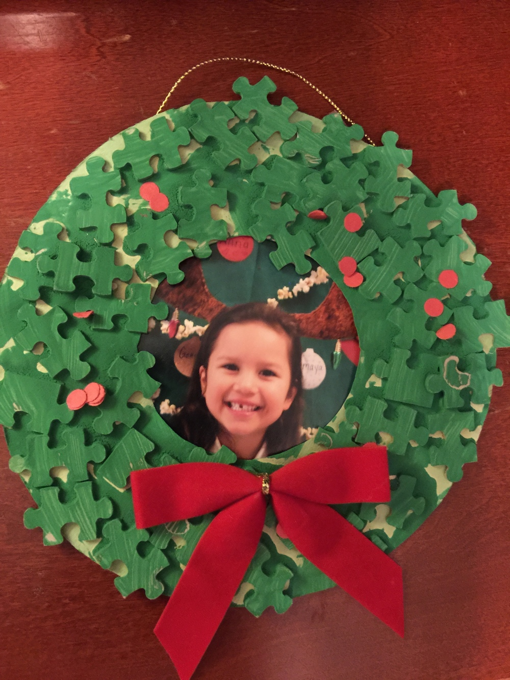 Genesis Garner's kindergarten Christmas ornament.