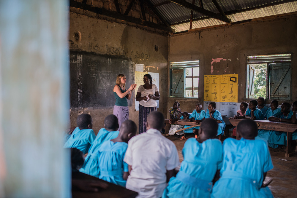 Likewise, Christina (Fowler) James and Josephine teach adolescent girls about female health. These concerns often go unspoken in East Africa, leading many girls to remain ignorant of the changes that will occur to their body, and for what purpose. Menstruation is a major reason girls miss school (as they often lack necessary supplies), and failure to understand reproductive health is linked to an epidemic in teenage pregnancy in Uganda.