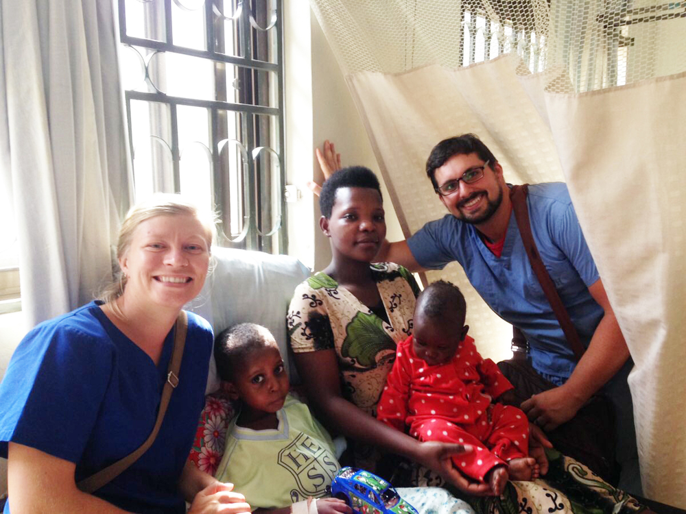 Christina James and Nick Moore volunteered at St. Katherine's, a local hospital where they were able to give bedside care and triage to patients like these. Health care is an overwhelming need in East Africa, and we are happy to have Christina and Nick join our team to help.