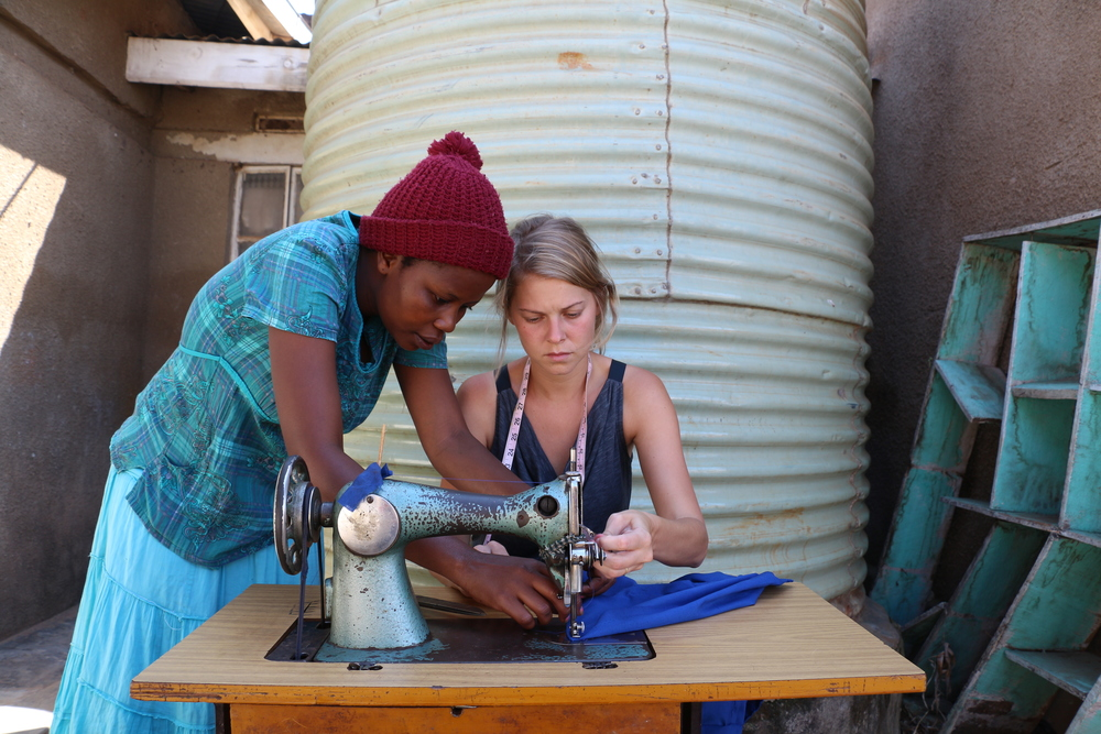 Laura Young made a special friendship with a local tailor, Justine. Together they created prototypes for new school uniforms for the children at St. John's. While cotton is one of Uganda's biggest crops, the market is suffering due to cheap imports from China. Encouraging a local market is part of our aim, and that includes supporting tailors like Justine.