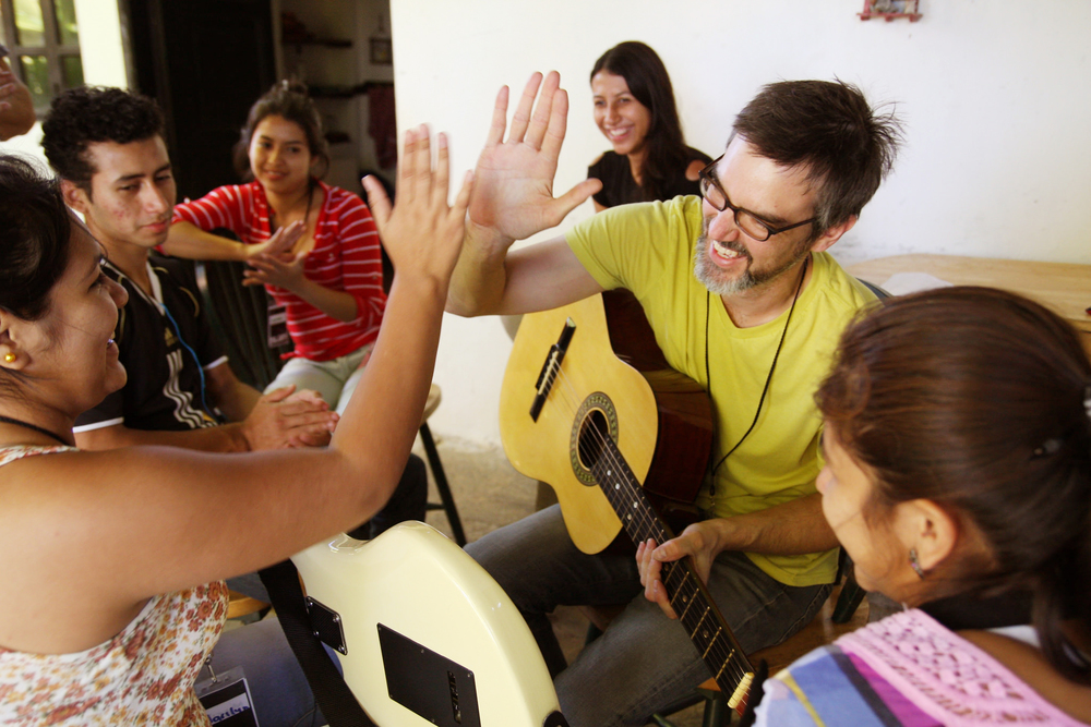 Music lessons have done something truly wonderful in this community. For the past several years, our teams have taught music both formally and informally to youth in the area, helping them learn the basics of guitar as well as song composition and singing.
