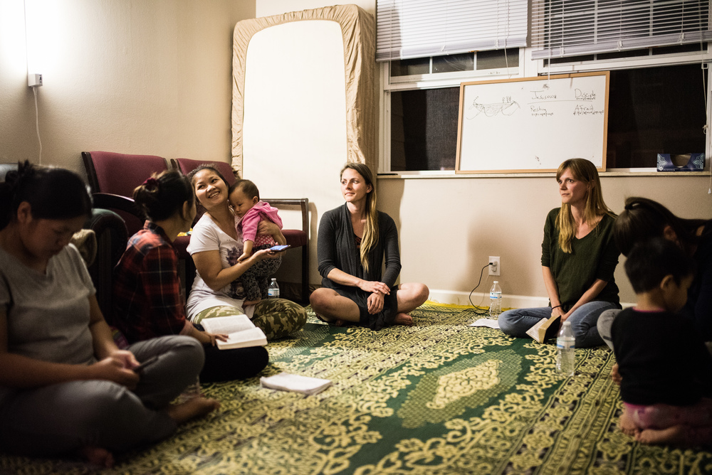 Because most refugee women cannot drive or speak English, they spend a majority of the week secluded in their apartments. They have shared with us how mentally straining this loneliness can be--how easy it is to let anxiety spiral. Learning God's word week-by-week revives them, educates them as mothers, and connects them with other women.