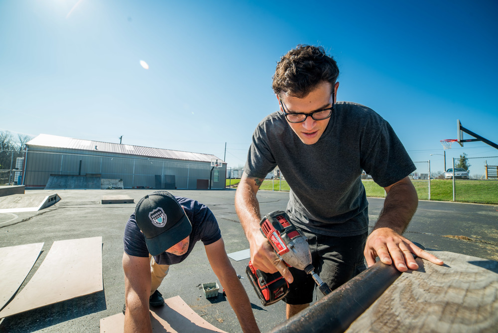 Other students worked to improve the neighborhood skate park that hosts local teenagers and young adults.