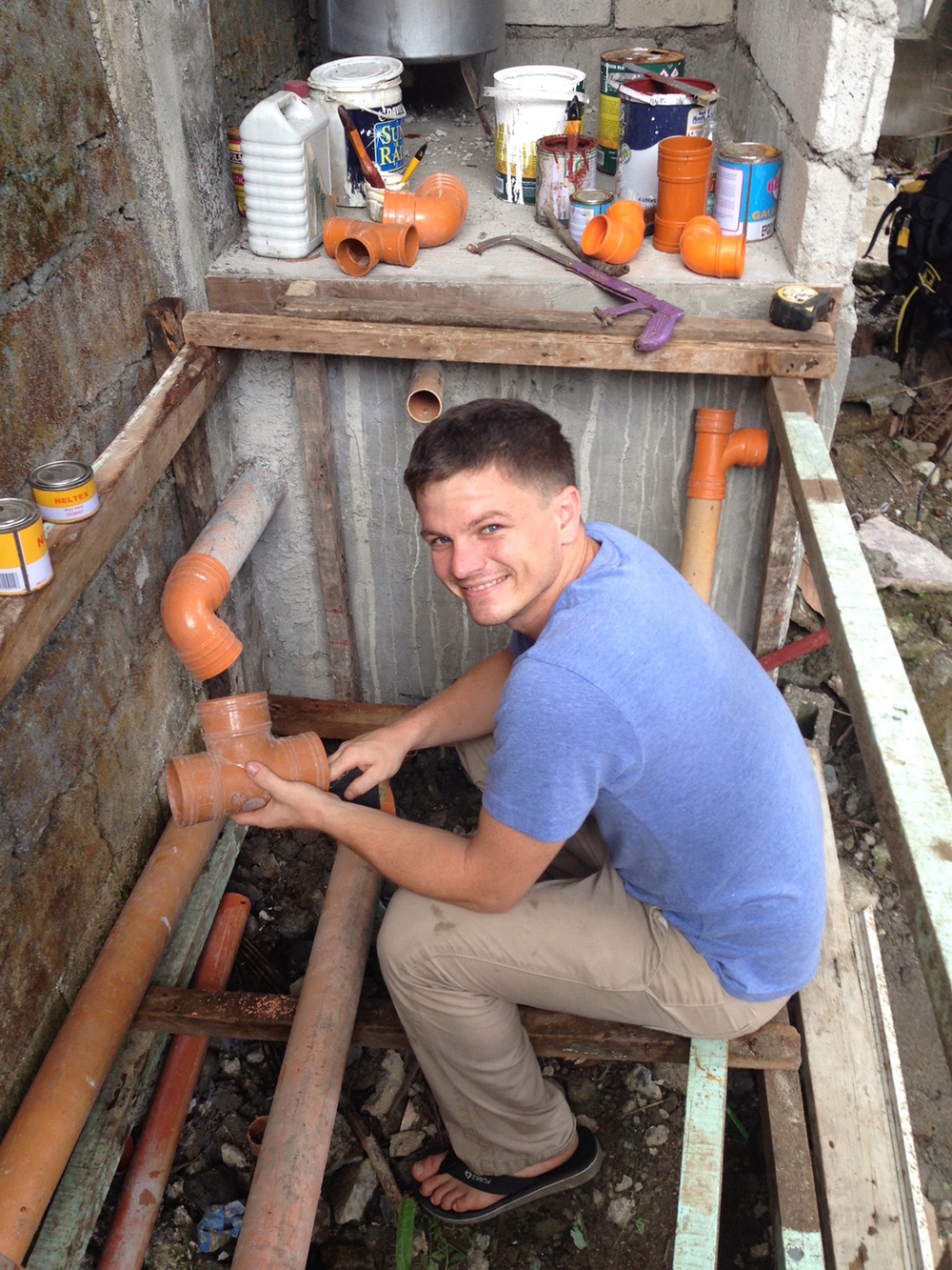 Jason's plumbing skills provided a much needed service to Mercy In Action Midwifery Clinic in Olongapo City, Philippines in 2013.