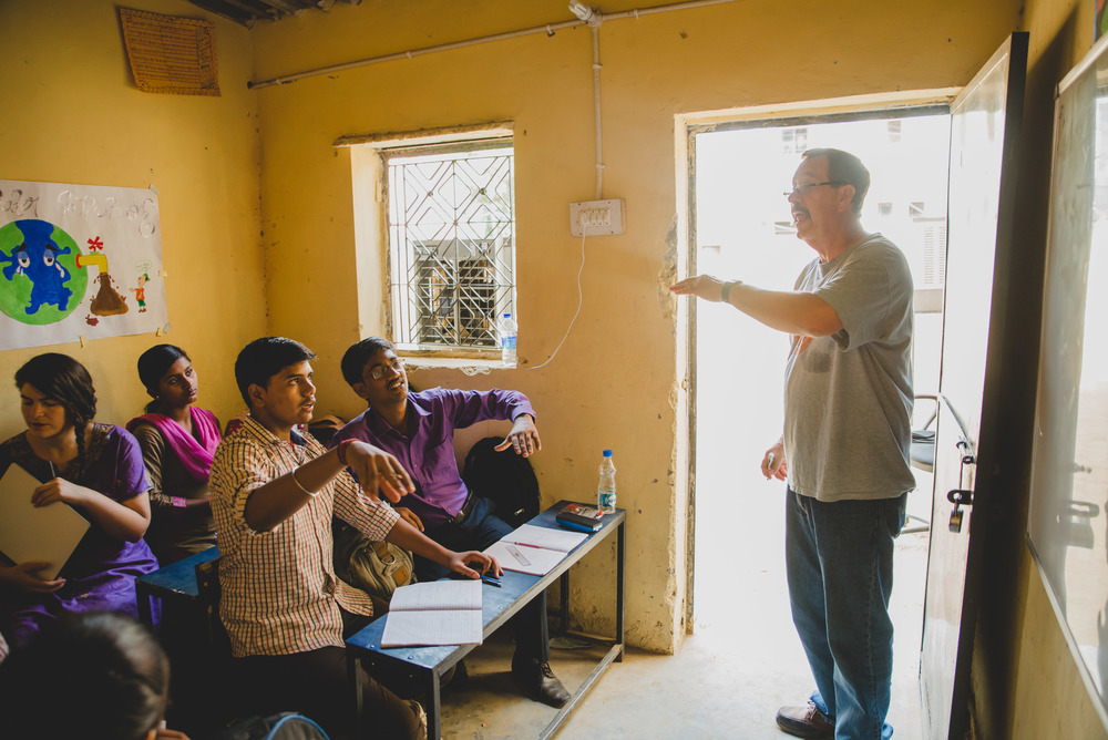 Retired Math teacher, Bob Cates, spent two weeks in India. One of his first observations when taking in the sights of India was the lack of teachers in the classroom. Cates was able to spend time assisting teachers and students at a nearby school.