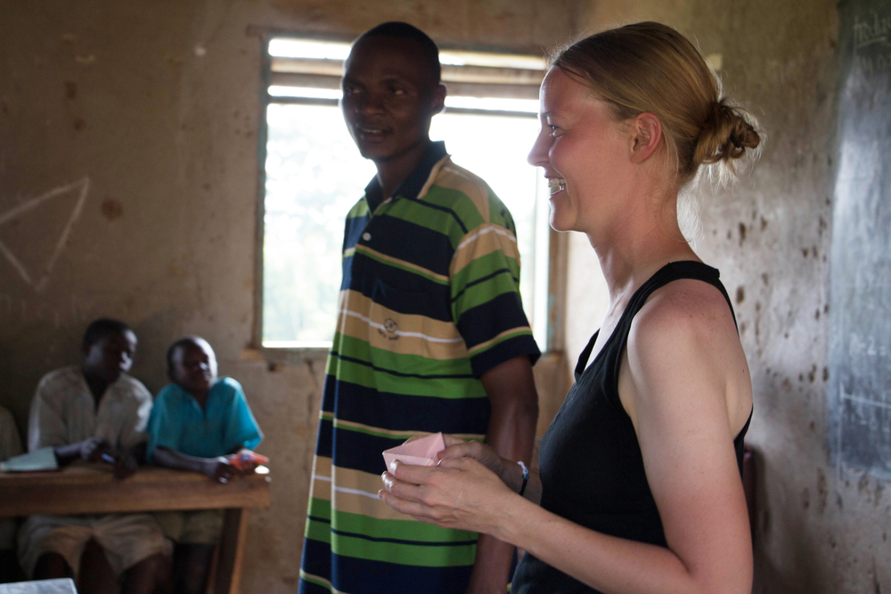 Corey taught at St. John's Primary during her first internship to Uganda. This time, going back, she's able to be even more prepared for what they need.