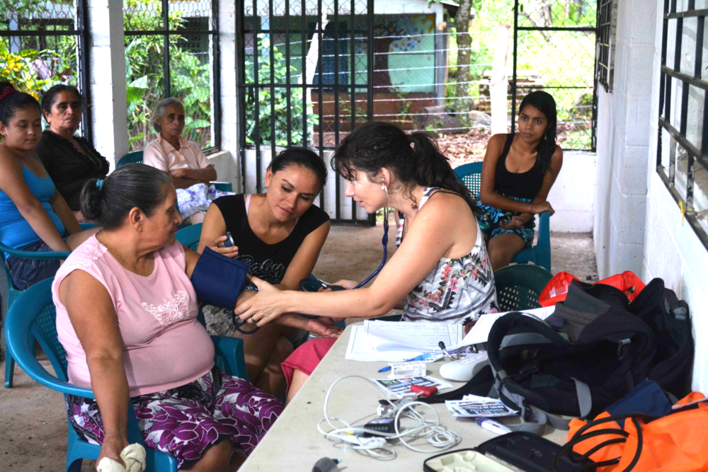 Nurse Practitioner Jaimee Arroyo hosts a medical clinic to survey the health of women in rural El Salvador.