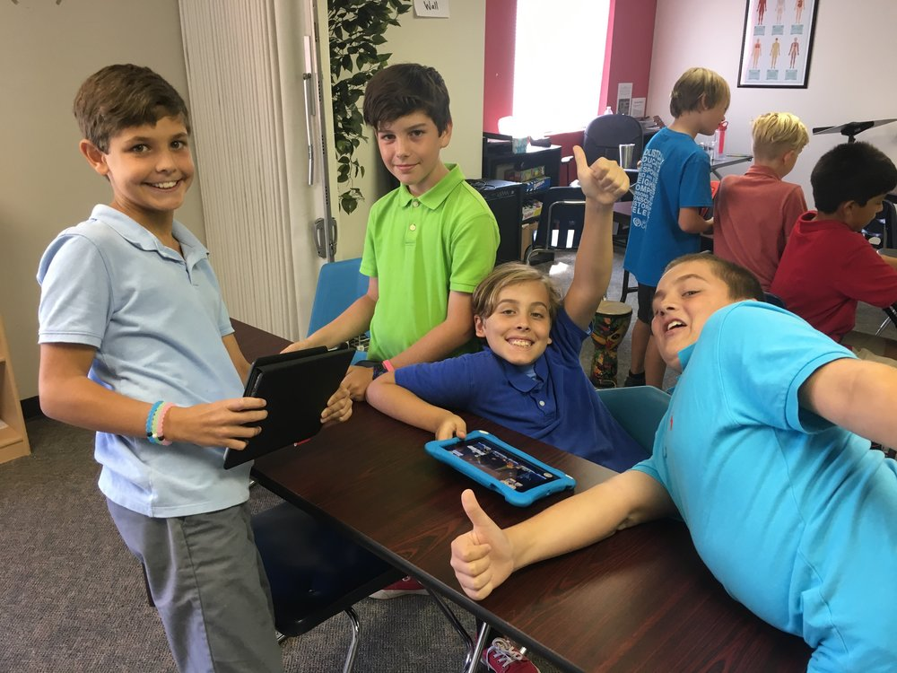 Mrs Moore's boys having a good transition time.