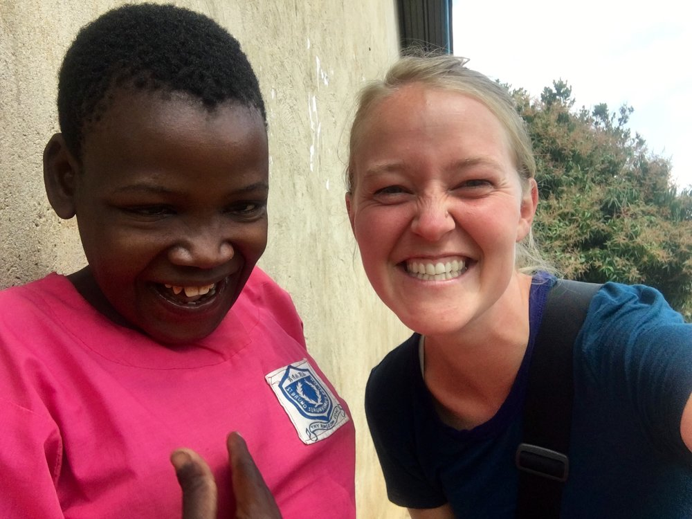 Corey Foster, student at the Institute for G.O.D., and Nalubega Jessica, Uganda