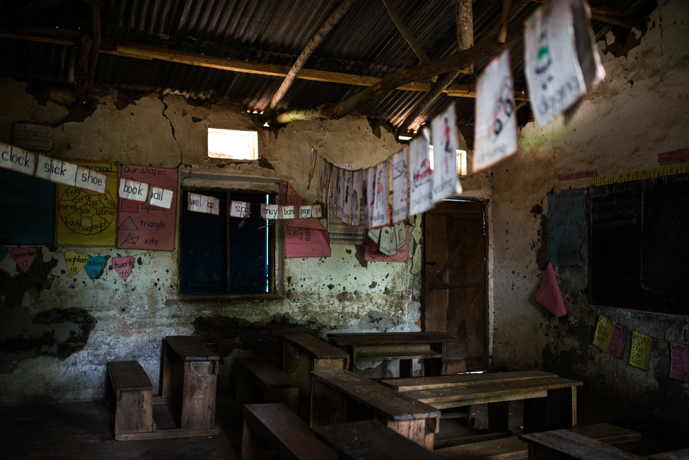 While not a reflection of the curriculum, this picture gives evidence to the lack of resources present at a majority of rural Ugandan schools.