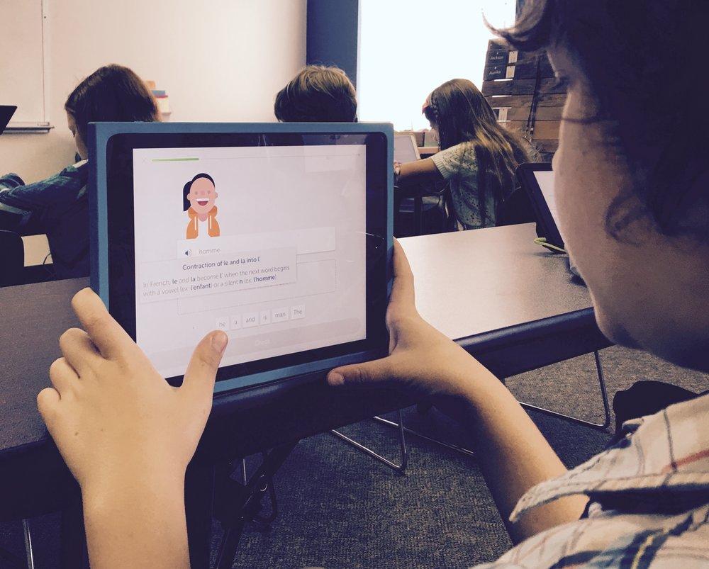 Zeke Nadeau digging into the French language using Duolingo