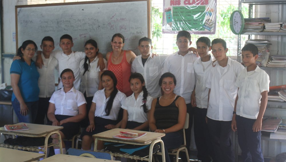 The teacher on the far left also attended our seminar.  Lavy (front row, far right), another Latin America team member that assisted me with the seminar, and I visited and assisted this teacher with her English classes.  We demonstrated a lesson on introducing vocabulary using the Natural Approach.  These students are so dear to my heart!