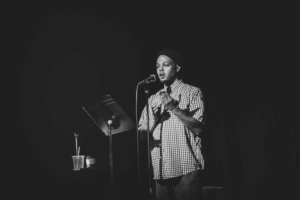 "Patriq James focused his spoken word on a theme developed from Psalm 139, ""Darkness is not dark to God""."