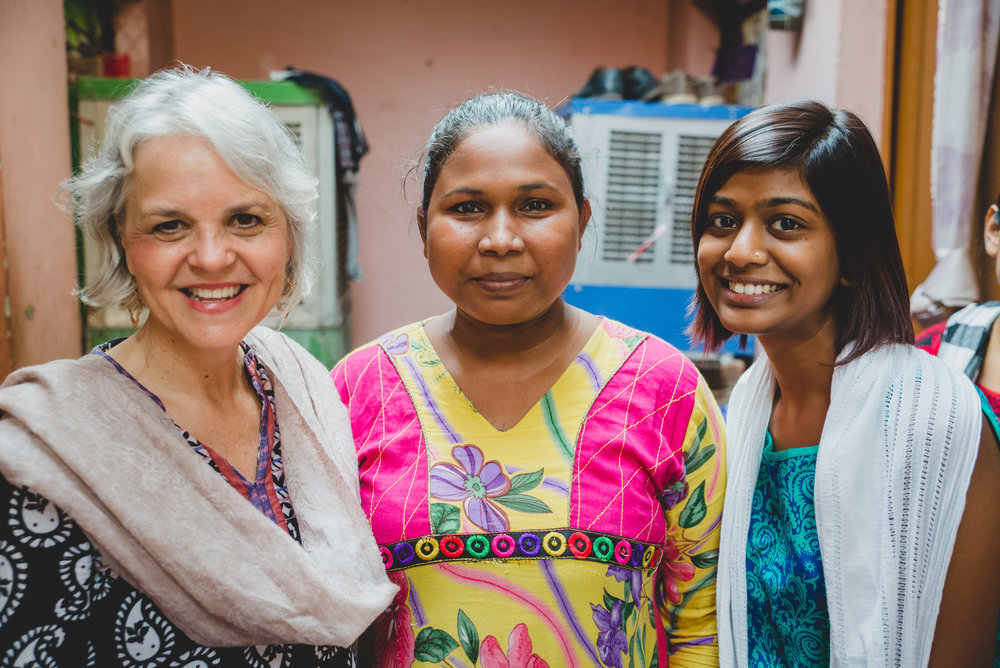 Rosemary initially met Jyoti and Nemati as she participated in ethnographic research on Indian women's childbirth experiences.