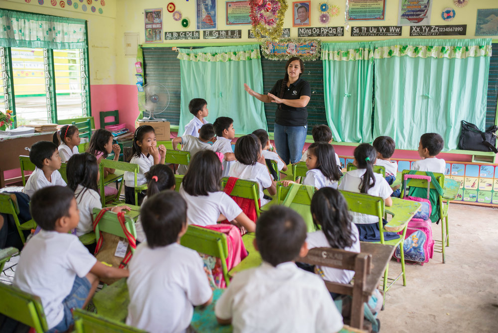 Leafa Vagatai has given the last 10 months of her time to invest into a school in the Philippines that needed assistance teaching kids who need more individualized attention.