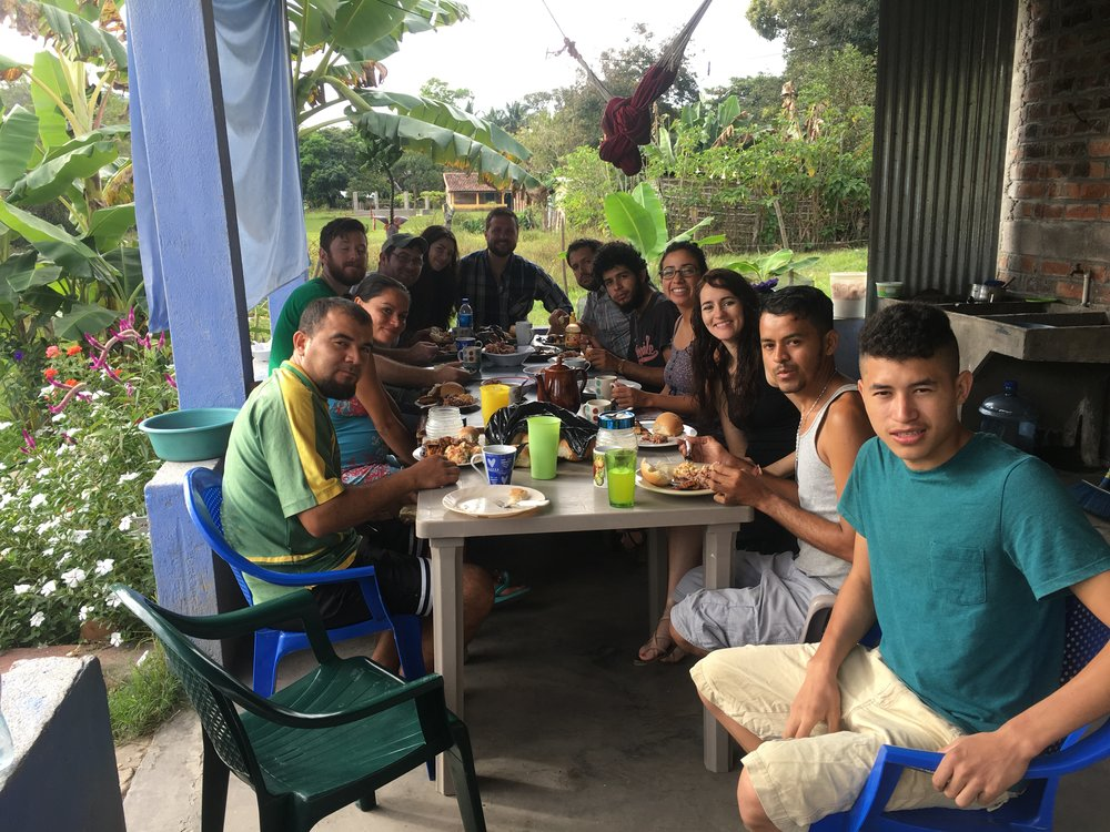 Having times of table fellowship together are some of my most fondest memories.  This meal happened on the porch of one of our houses on our campus in El Salvador.  It is our hope that our campus will offer these kids rest and opportunity.