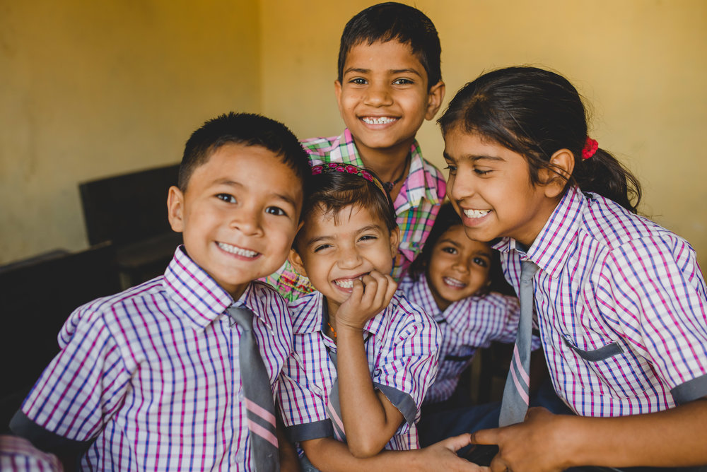 These students at Aquatic Public School in India, along with schools we work closely with in El Salvador and Uganda will be the recipients of the school supplies drive.