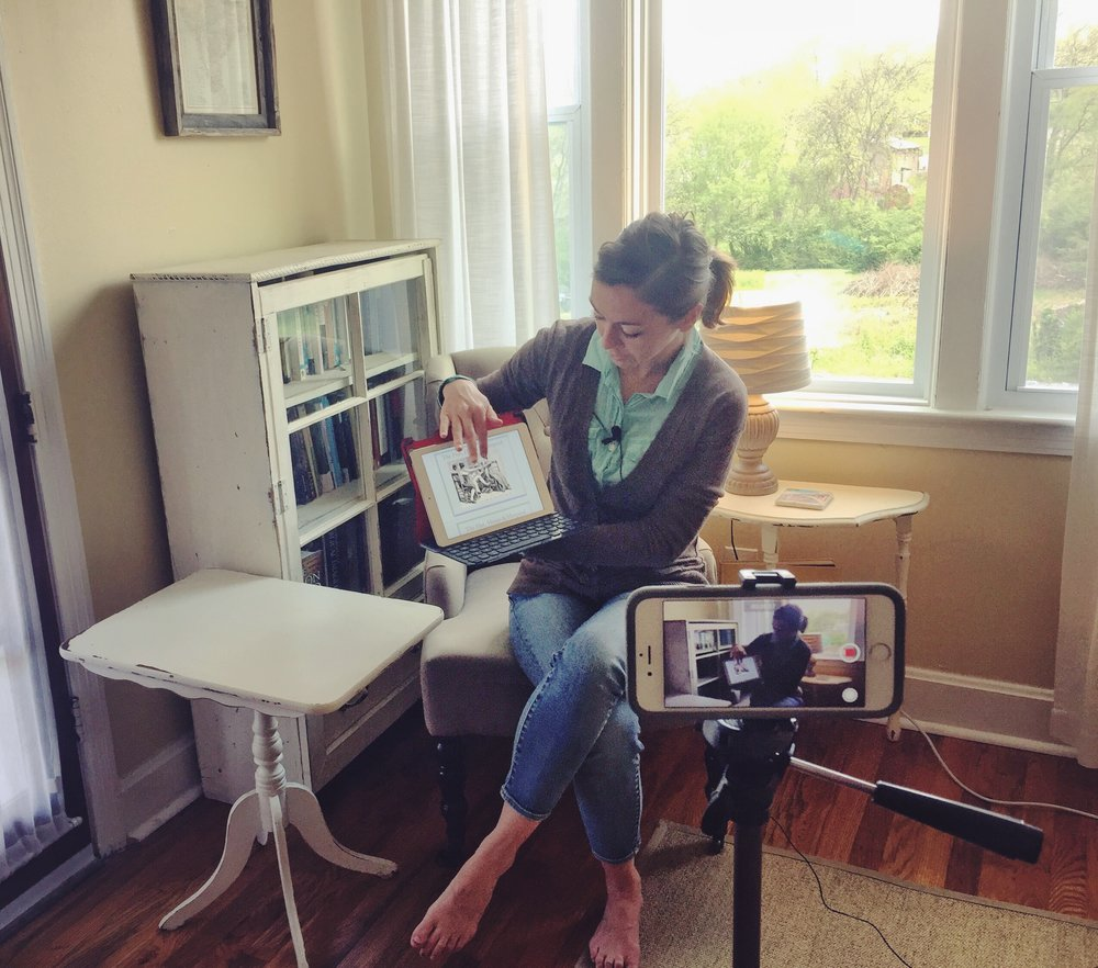 Institute for G.O.D. graduate and NOVA Birth Services employee Leah Sherrod teaches childbirth education classes to Sneha via video recording.