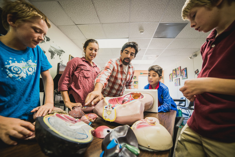 Mr. Munoz's passion for Anatomy has fueled many students' interest in health care. Classes like Anatomy, Hygiene, and Nutrition all build on one another, and teach kids not only how their bodies work but how to care for them in practical ways.