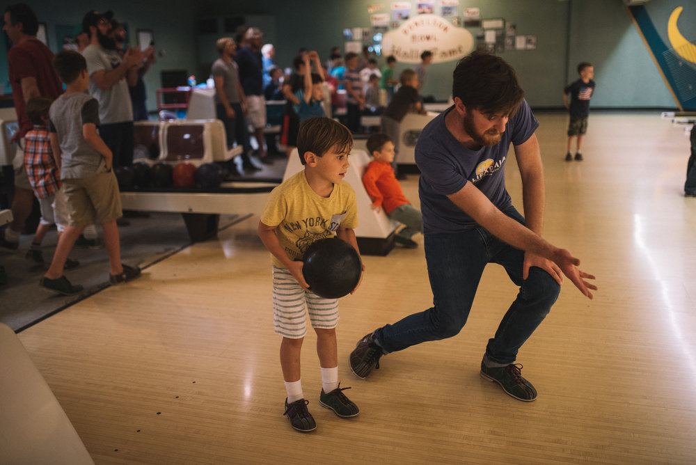 Then there are the dads! This spring, our dads took a special evening with their sons at the bowling alley. With over 50 families in attendance, there was some fun, lighthearted competition and a whole lot of father-son bonding time!
