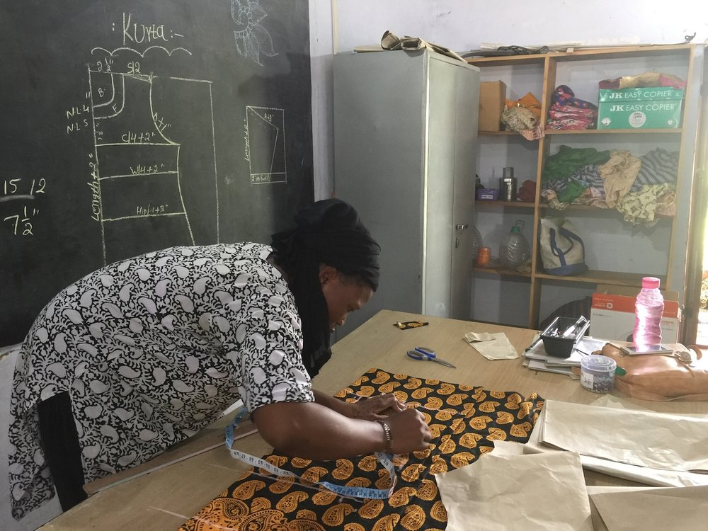 The solar engineers at Barefoot College are also trained as tailors.