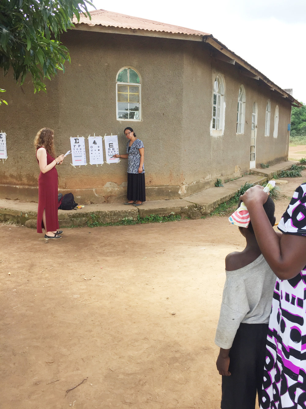 Institute for G.O.D. students Kara Hadley and Victoria Fields were able to utilize their skills in the health field to complete this project during their Immersion trip to Uganda.