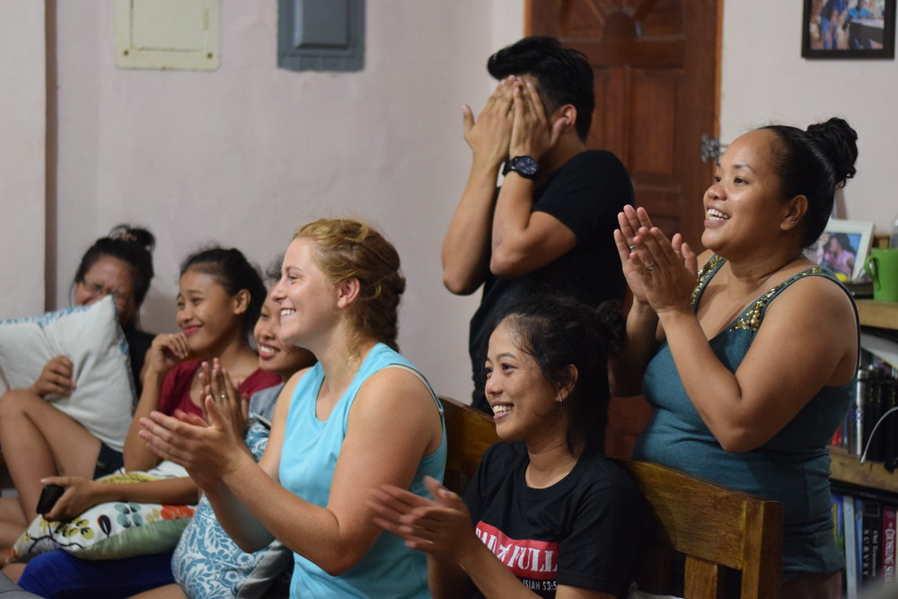 Hospitality can be culturally appropriated.  Here, in the Philippines, our summer interns and community center staff host an Open Mic night and cheer people on as they share their stories through music.
