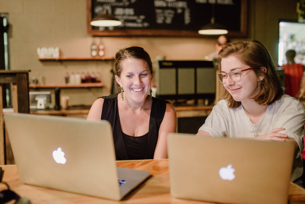 Jenna specifically wanted to explore the connection between media and ministry. So, she spends another large portion of her week interning with Laurie Kagay, Director of Communications, where she is using her skills as a photographer.