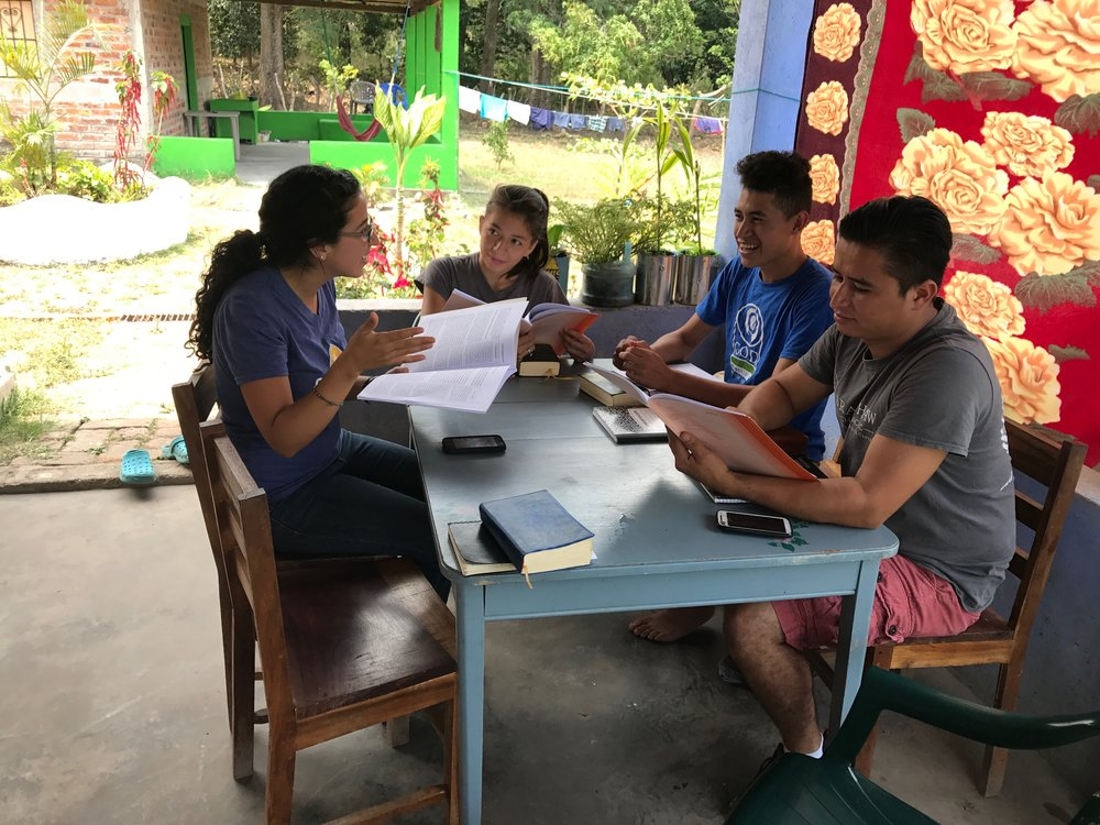 Lavinia Fernandez teaches Old Testament Survery to a group of students on our campus in El Salvador.  Teaching the God's word to those who are hungry for it is something we prioritize in all of our international regions of focus.