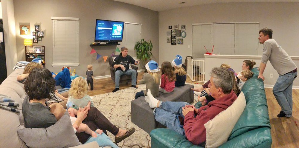On Christmas Eve, the G.O.D. Community broken into small groups in homes where community members worshipped together and talked together about the impact of Jesus' birth and life.