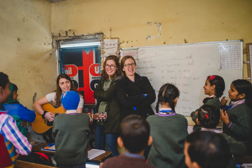 Jenna has been shown the ropes of international ministry by Rachel Nowlin, G.O.D. member, who is spending her year in India, investing into Aquatic Primary school. Jenna teaches regularly at the school.