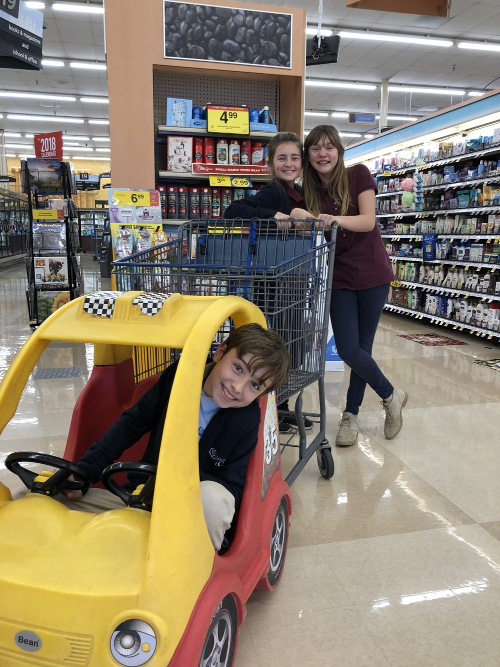 Charlie Meadows, Moriah Olson, and Kiah Roufs all turned in tokens for a Kroger shopping spree. It was pretty funny watching them skip around and talking about what they were getting.