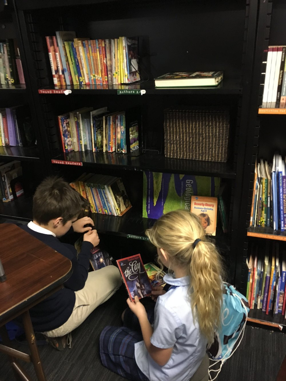Book Worms! - Numa and Finn asked to organize the library. They have been alphabetizing and displaying reading suggestions ever since!