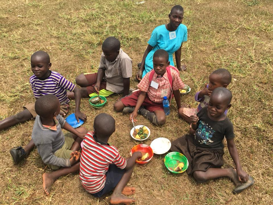 These are the children of the widow that Ssemakula helped to include at school. Some uniforms are still needed.