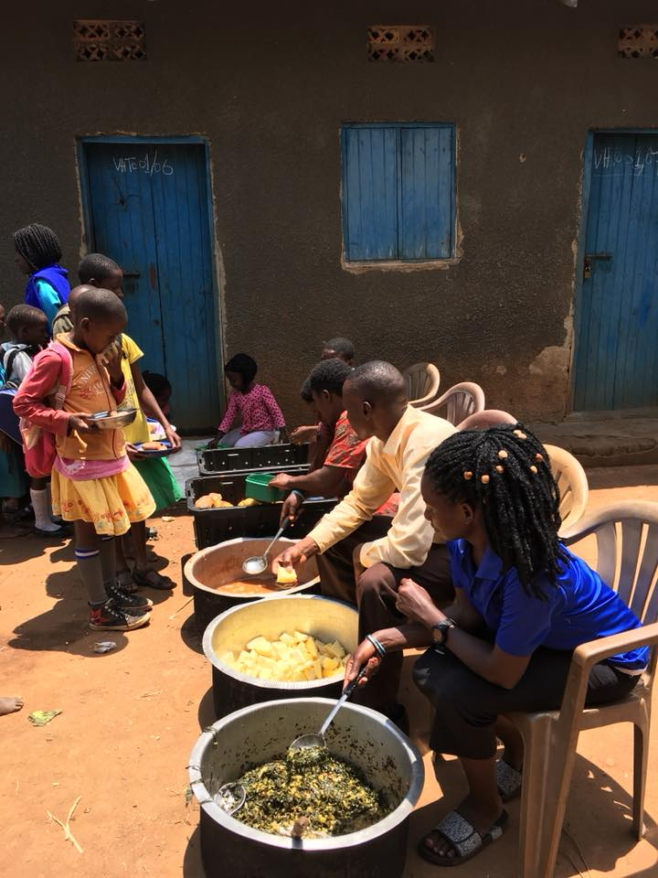 Instead of giving up that there isn't enough help to serve lunch, the school staff, parents and students have worked together to grow, cook and serve food themselves.