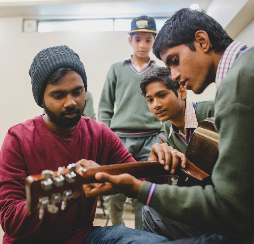 Manohar Paul has found his love for music and youth intersect perfectly in this music class for boys. He hopes to continue teaching them the fundamentals of music, while also encouraging them in their growth as human beings.