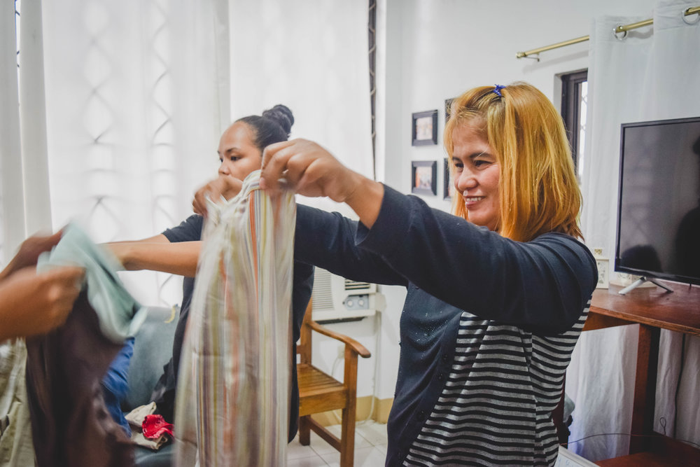 Rina finds intentional ways for the ladies to feel special outside of their time in the Word, which includes cooking and eating together, providing clothing, and taking them on a retreat.
