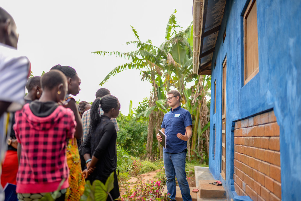 Cameron Kagay, G.O.D. East Africa lead manager, gives a tour of our campus to guests at our 2017 East Africa Summit, explaining the intentional and sustainable decisions made to create it.