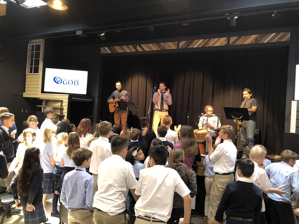 Teacher Lead Worship Service on Chapel this past Wednesday!