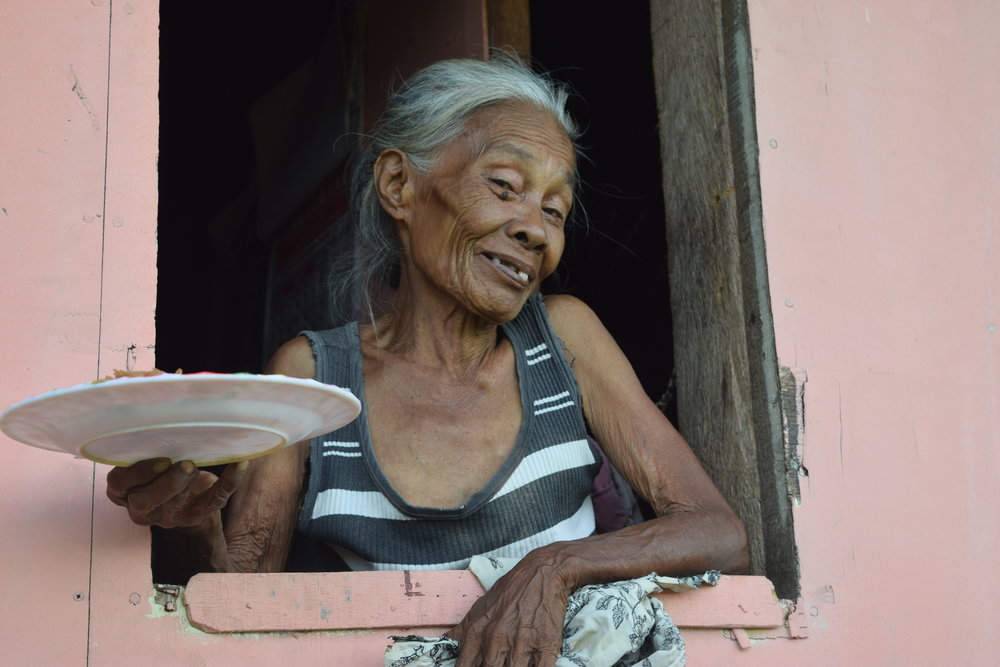Nanay Conching, one of the oldest widows in her barangay (neighborhood), is the primary caretaker for her two grandchildren. Ensuring she is healthy is important so our personnel makes frequent visits to her home to check in on her and the grandchildren.