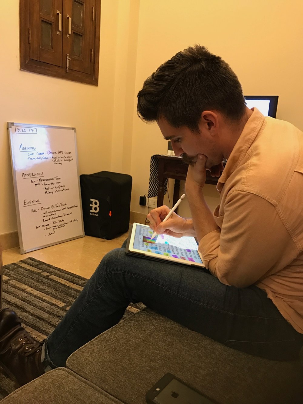 India team member Josh Nava prepares a lesson on biblical studies for our Indian cooperatives. Their ongoing skill in interpreting and applying God's word is what will make them effective ministers. Bible studies are a priority on every trip we take.