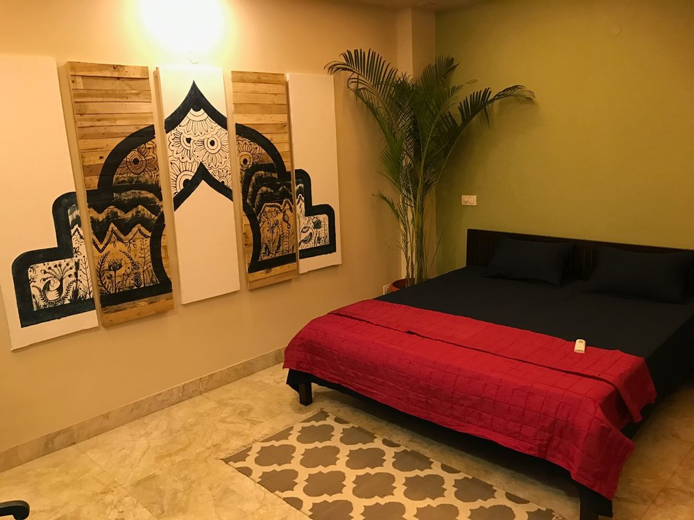 The team worked hard to prepare a room within our office building that could be rented out. This income helps cover the cost of our daily operations in India, and provides a hospitable place to host guests as needed.