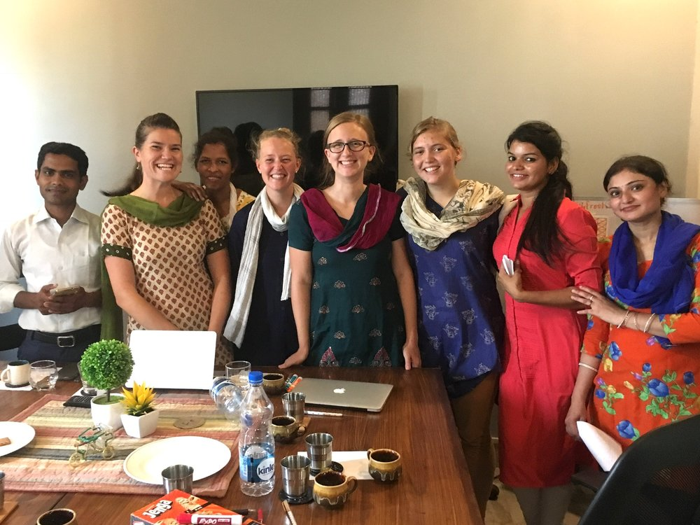 Corey Foster was the first of our Summer 2017 Immersion students to arrive in Gurgaon. She didn't waste any time! In her first week Corey facilitated a teacher's seminar for the faculty of Aquatic Public School that focused on behavior management in the classroom. The topic was one the teachers chose, and their focus was almost palpable.