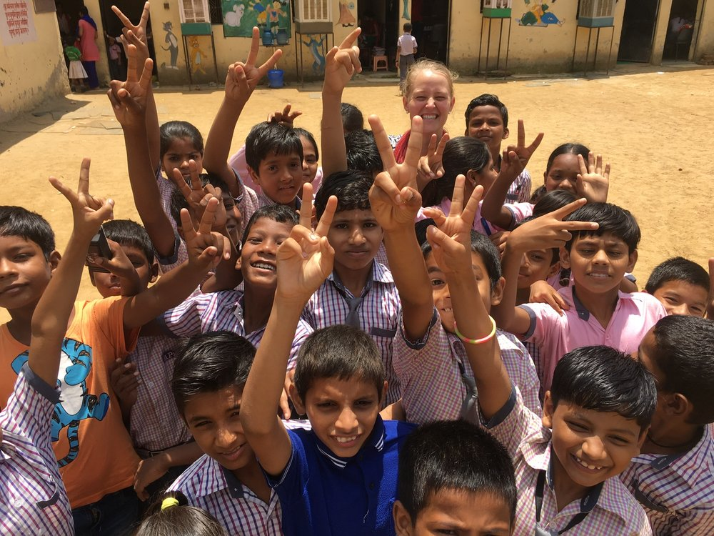 One primary goal of a 6-week immersion trip is for students to grow in awareness of one or two significant systemic issues that affect a region. Corey Foster spent over 60 total hours volunteering at our partner elementary school. She observed cultural practices and became familiar with typical Indian primary school curriculum.