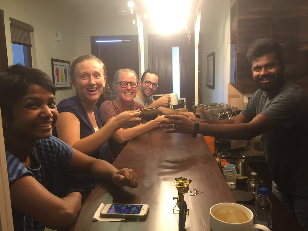 As the summer drew to a close we spent an evening together enjoying Manohar's specialty coffee tonics. It was a rich trip full of meaningful work and sweet times of rest and fellowship together.
