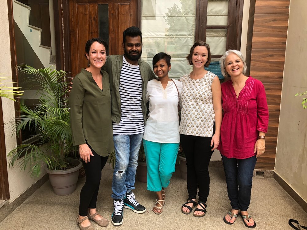 """In October 2017, team members Rosemary Sherrod, Stephanie Bartlett and Leah Sherrod joined liaisons Manohar Paul and Sneha Purti for a week of service. We hosted seminars in maternal health, administration and cross-cultural communication for our GOD India staff. Psalm 133 says, """"How very good and pleasant it is when brothers live together in unity!"""" This applies to sisters too!"""