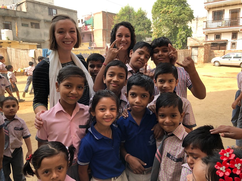 With several years passed since both Stephanie and Leah had returned to India, this was their first time walking the grounds of Aquatic Public School and meeting all of the special faces that fill it. One cannot enter the courtyard or a classroom without feeling the abundant joy of these children as they receive an education!