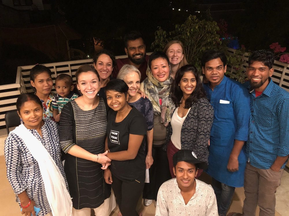 We have a wonderful group of people working with us at our offices in India, and we love to celebrate them! On the final night of Leah, Rosemary, and Stephanie's delegated mission, we celebrated these relationships over a meal and shared stories testifying to the faithfulness of the Lord.