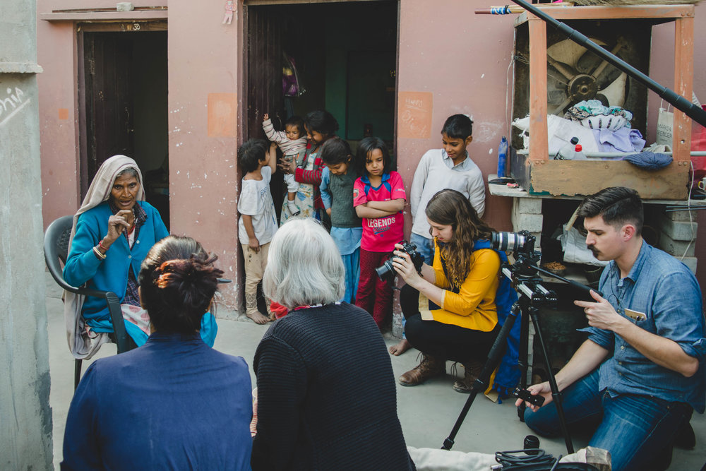 """From the moment the cameras began rolling, Ram Rakhi told her story with confidence, leaving out no details. Despite the many cameras and amount of equipment, she was unfazed. She told us, """"I want to tell my story so that other women can be educated."""""""